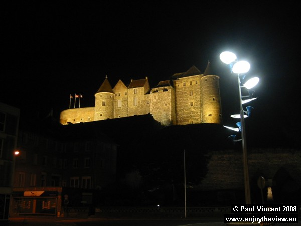 Our nocturnal ride to the hotel takes us past the impressive 15th-century Château de Dieppe.