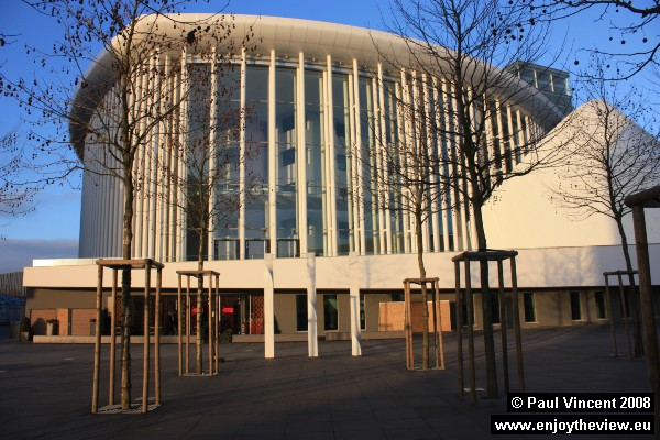 The concert hall, inaugurated in 2005, at the end of Luxembourg's presidency of the European Union.