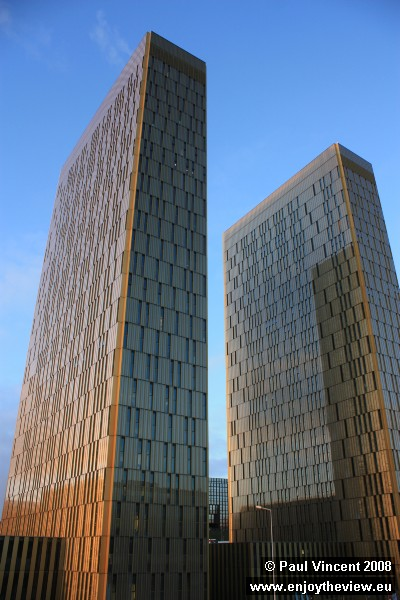 The European Court of Justice twin towers, completed in 2008.