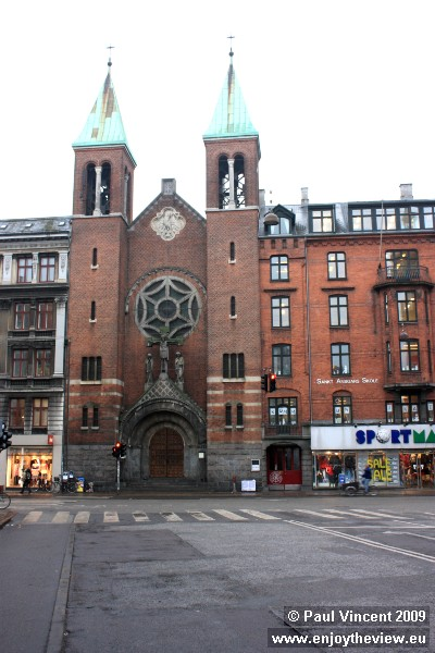 A church in the Nørrebro district of Copenhagen, the most multicultural part of the city.