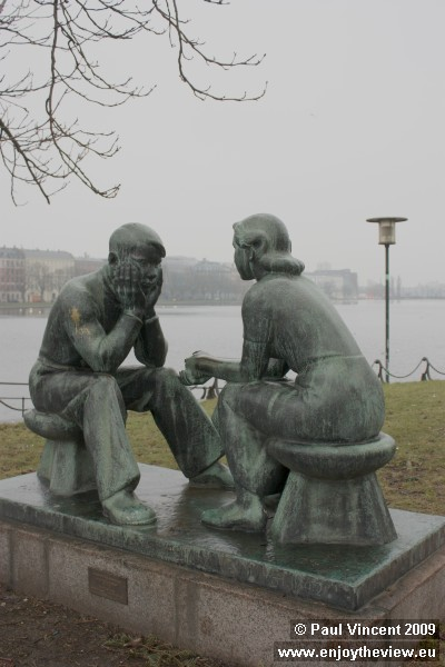 This statue, beside the Dronning Louises bridge, is called