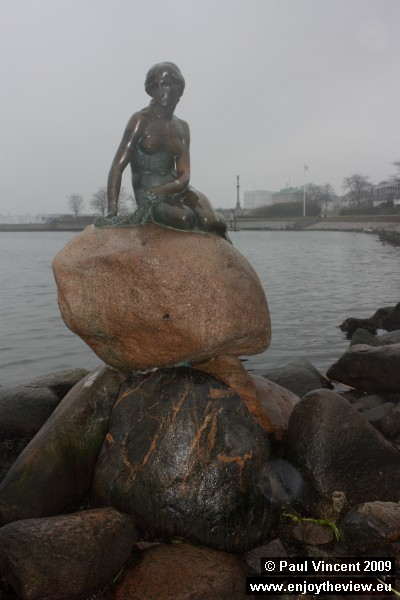 The Little Mermaid statue was sculpted by Edvard Eriksen and was unveiled in August 1913.