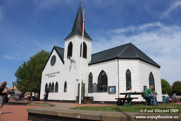The church was a religious and cultural hub for Norwegian sailors.