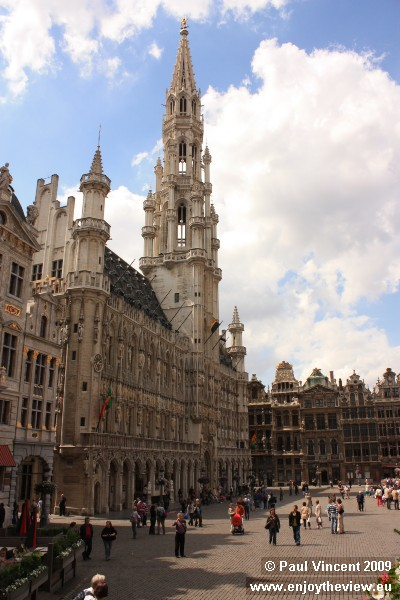 Brussels Town Hall dominates the Grand Place.