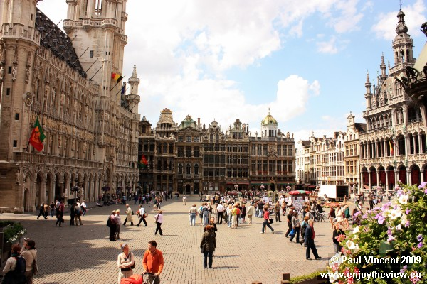 The Grand Place features a range of architectural styles.