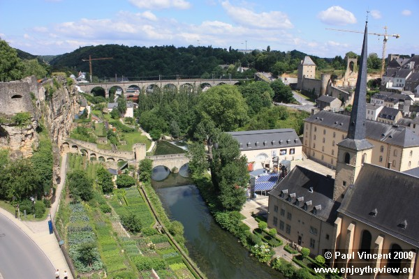The Abbaye de Neumünster, on the bank of the Alzette.