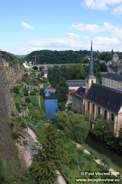 The Alzette valley.