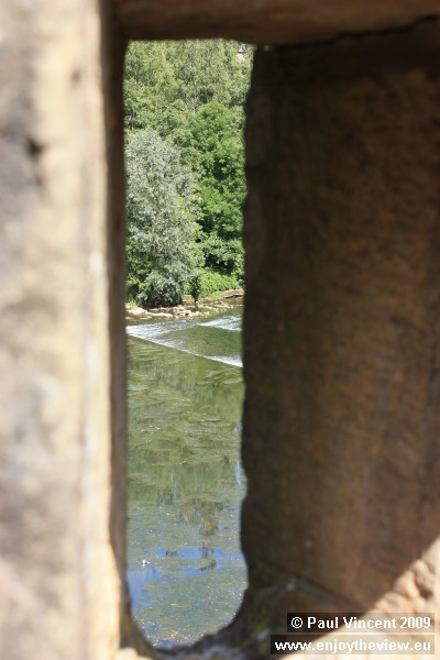 The Alzette, viewed through a hole in the fortifications.