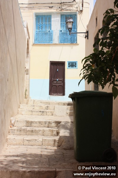 Many of the narrow streets are connected by staircases.