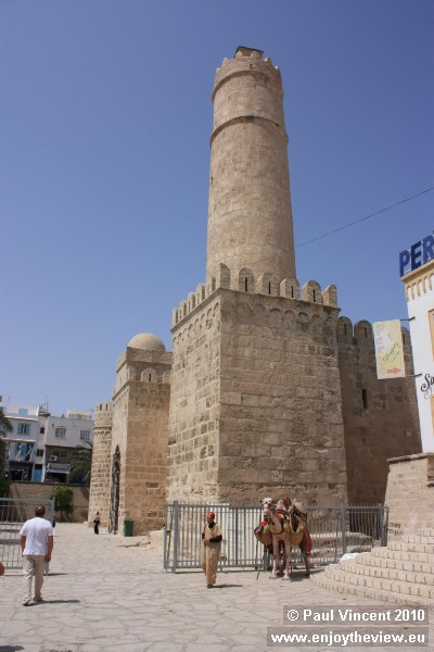 The Ribat of Sousse, a minaret and watch tower.