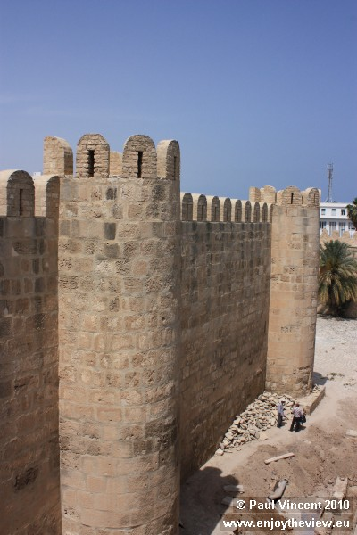 The wall of the mosque.