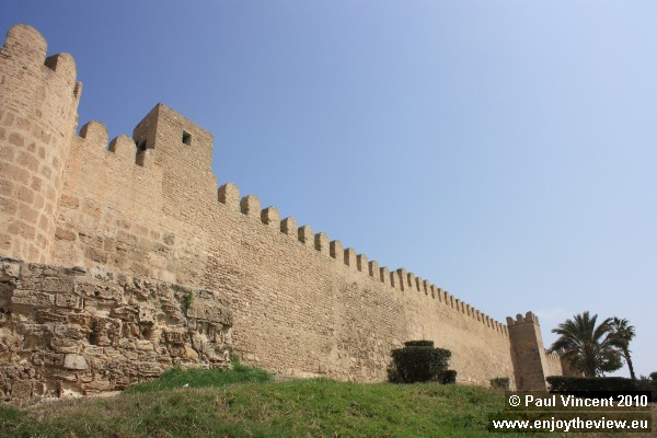 The wall around Sousse medina was built in 859 AD.