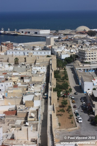 Looking east over the southern side of the medina.