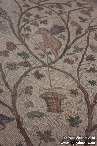 The museum hosts one of the largest collections of mosaics in the world.