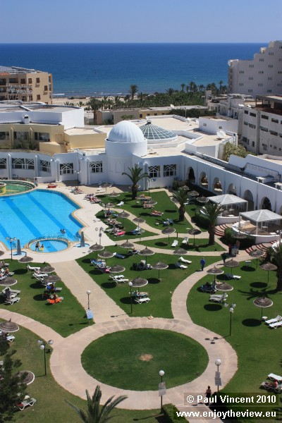 Many hotels are located just a few hundred metres from the sea.