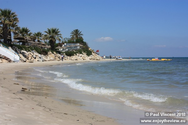 This is the coast to the north of Sousse.