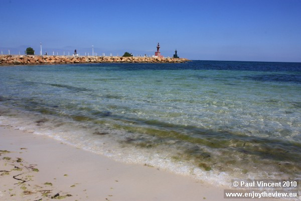 Clear water in front of Port El Kantaoui.