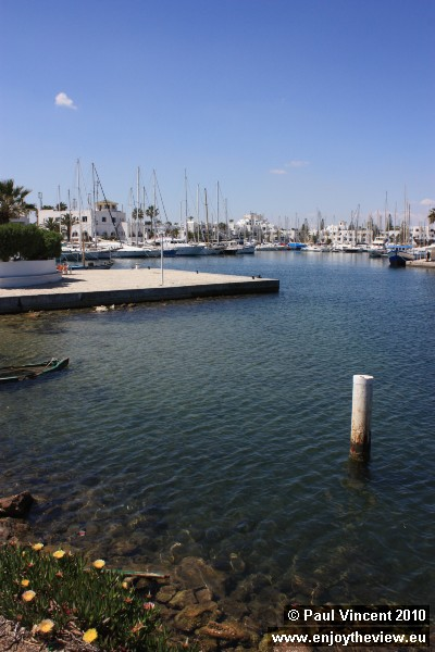 The marina is home to luxury yachts.