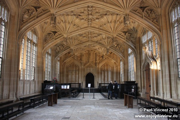 The vaulted ceiling is a masterpiece of English Gothic architecture.