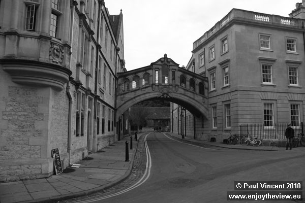 This bridge was completed in 1914 to connect two sections of Hertford College.