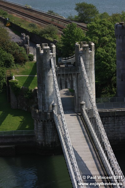 This bridge was one of the first road-carrying suspension bridges in the world.