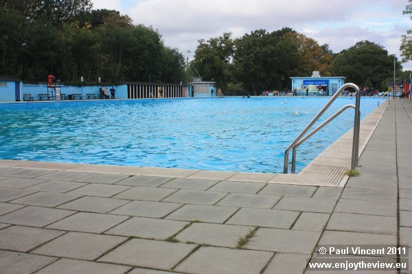 At 100 by 33 yards (approx. 91m x 30m), this is the largest swimming pool in the United Kingdom.