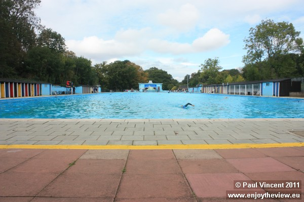 View of the lido from the original entrance, at the deep end.