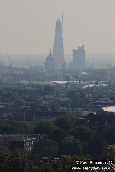 Due for completion in May 2012, the Shard will be the tallest building in the EU, reaching 310 m.