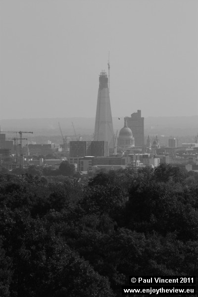The Shard is located near the southern end of London Bridge.