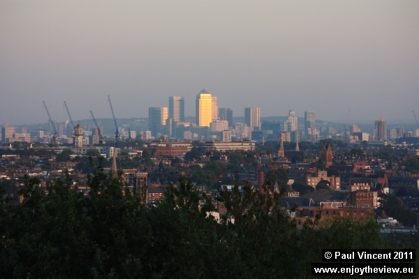 View over London from Hampstead Heath.