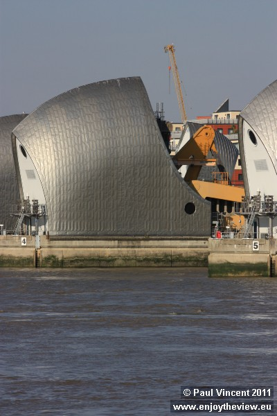 The Thames Barrier was completed in 1983.