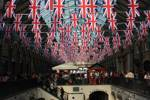 Covent Garden dressed for Jubilee