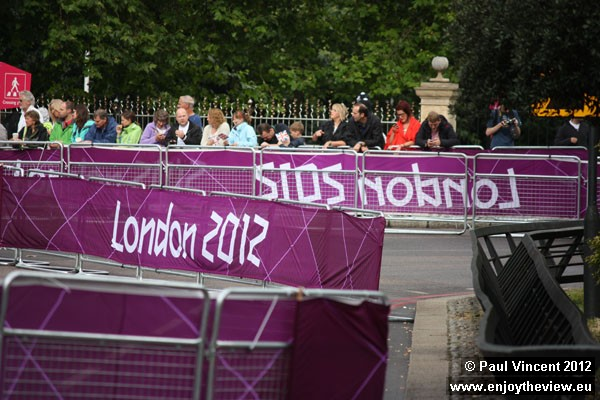These fences line the route of the Olympic Triathlon.
