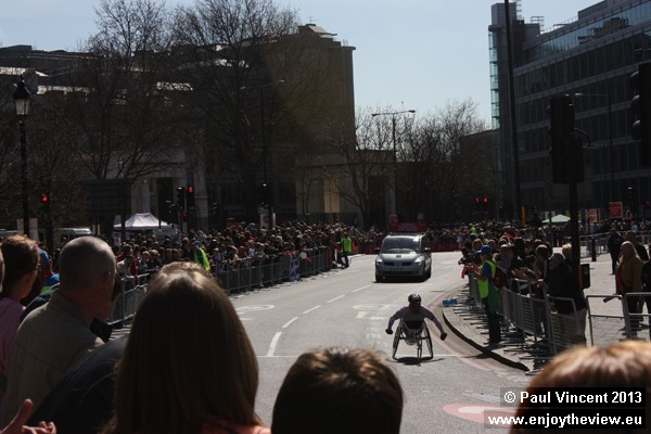 Record crowds watched the 2013 London Marathon, on one of the sunniest days of the year.
