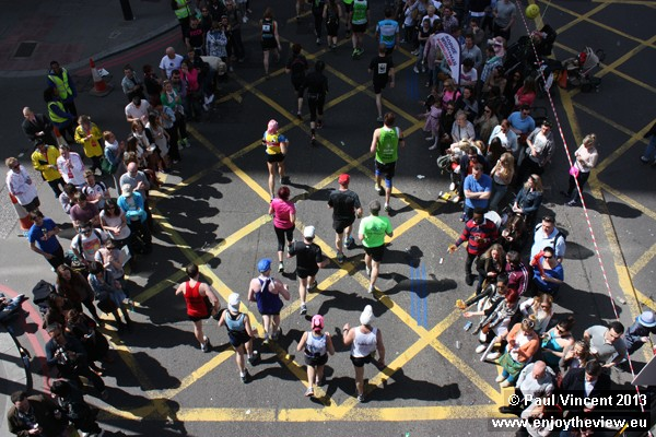 Peering in to the heart of the London marathon.