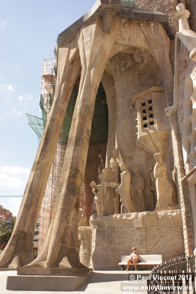 When Gaudí died in 1926, the basilica was between 15 and 25 percent complete.