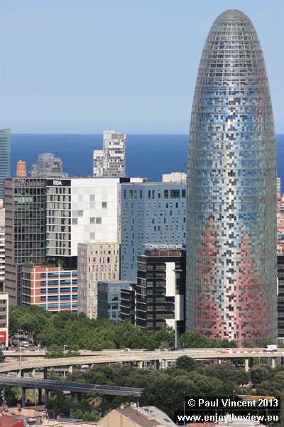 The Torre Agbar is the gateway to the new technological district of Barcelona.