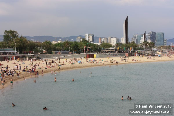 The beach forms an integral part of the neighbourhood of the same name.