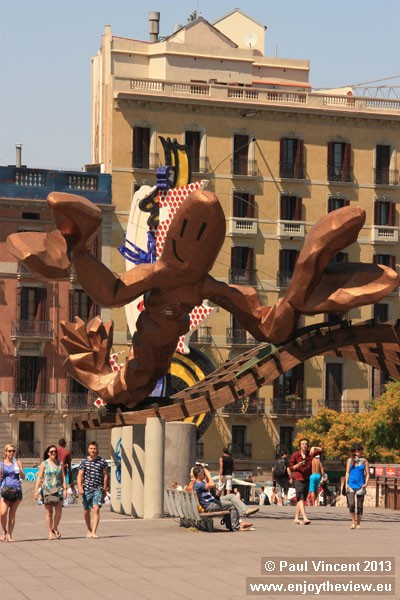 This 10-metre long lobster statue was originally part of the Gambrinus seafood restaurant.