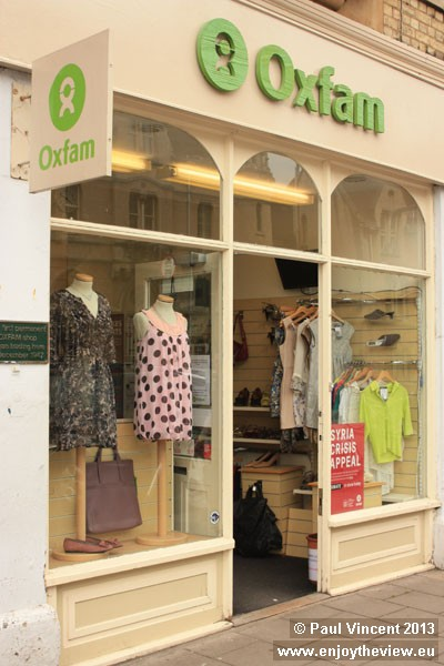 Trading since December 1947, this is the very first Oxfam shop.