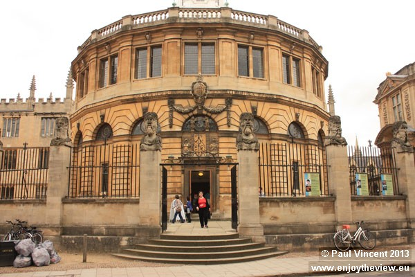 The Sheldonian Theatre was designed by Christopher Wren and completed in 1668.