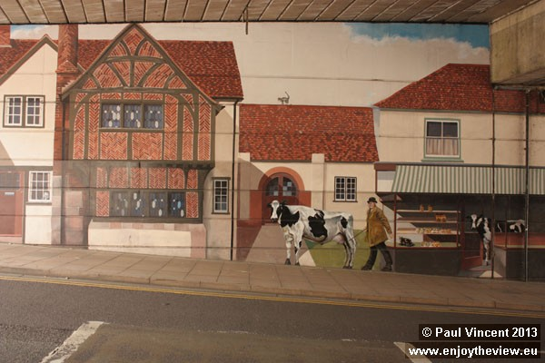 The mural depicts real people in Salisbury's past.