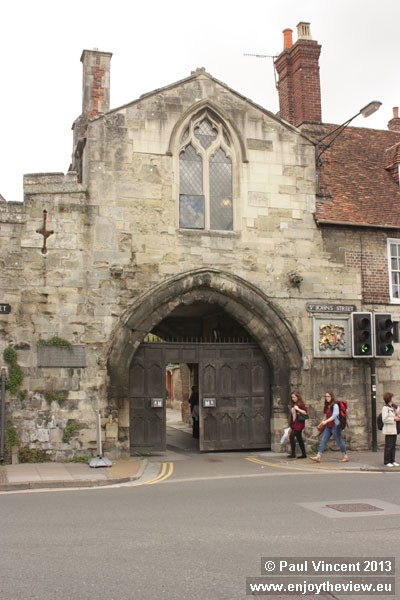 St Ann's Gate leads to North Walk, part of the Cathedral Close.