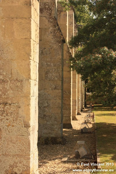 External wall along the western side of the cloisters.