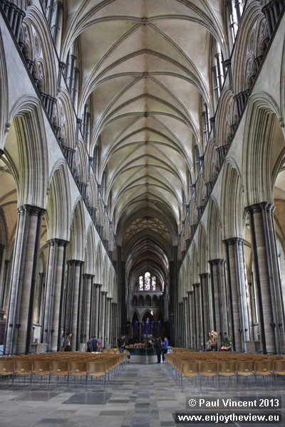The nave is 82 feet long and 84 feet high.