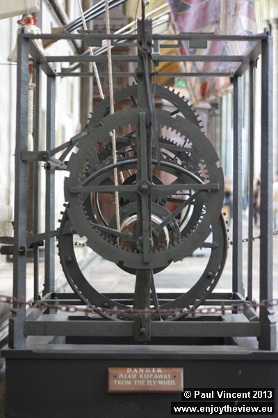 The clock was re-discovered in the Salisbury clock tower in 1928 and was restored in 1956.