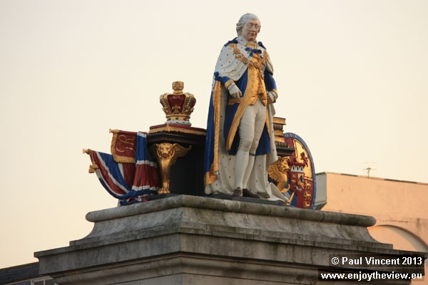 This statue, erected in 1810, celebrates King George III's Golden Jubilee.