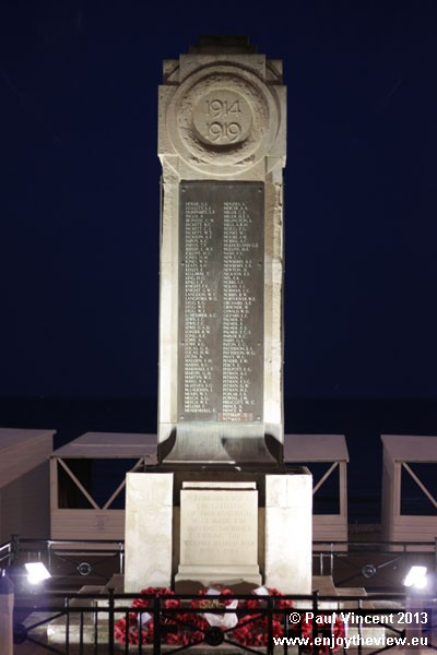 Weymouth's cenotaph, erected as a memorial to the dead of World War I, was unveiled in 1921.