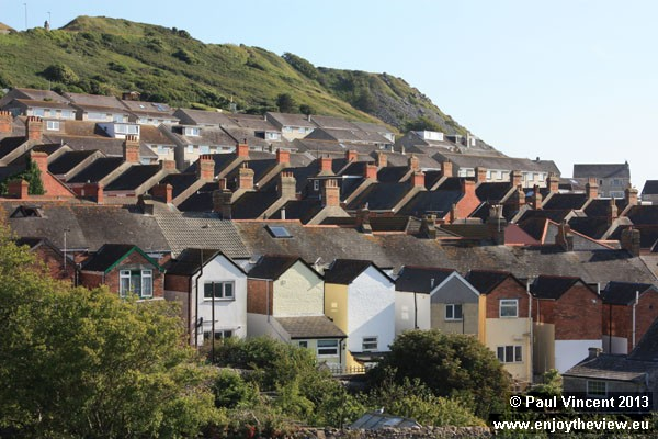 The village of Fortuneswell occupies steep land high above sea level.