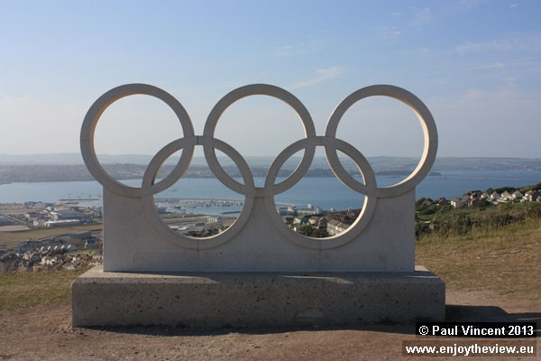 This sculpture celebrates the sailing events that took place at Weymouth and Portland in 2012.